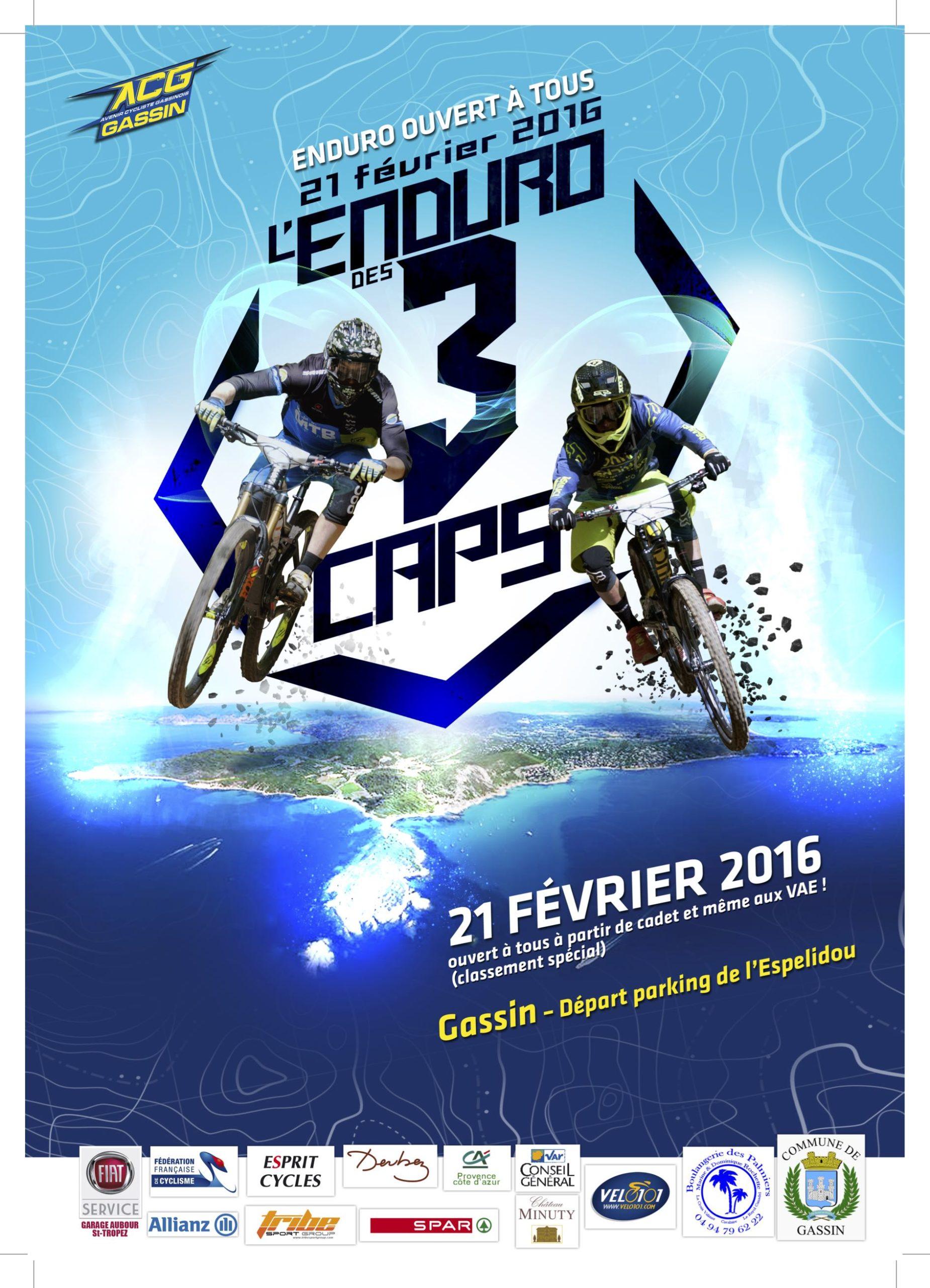Affiche Enduro des 3 Caps 2016