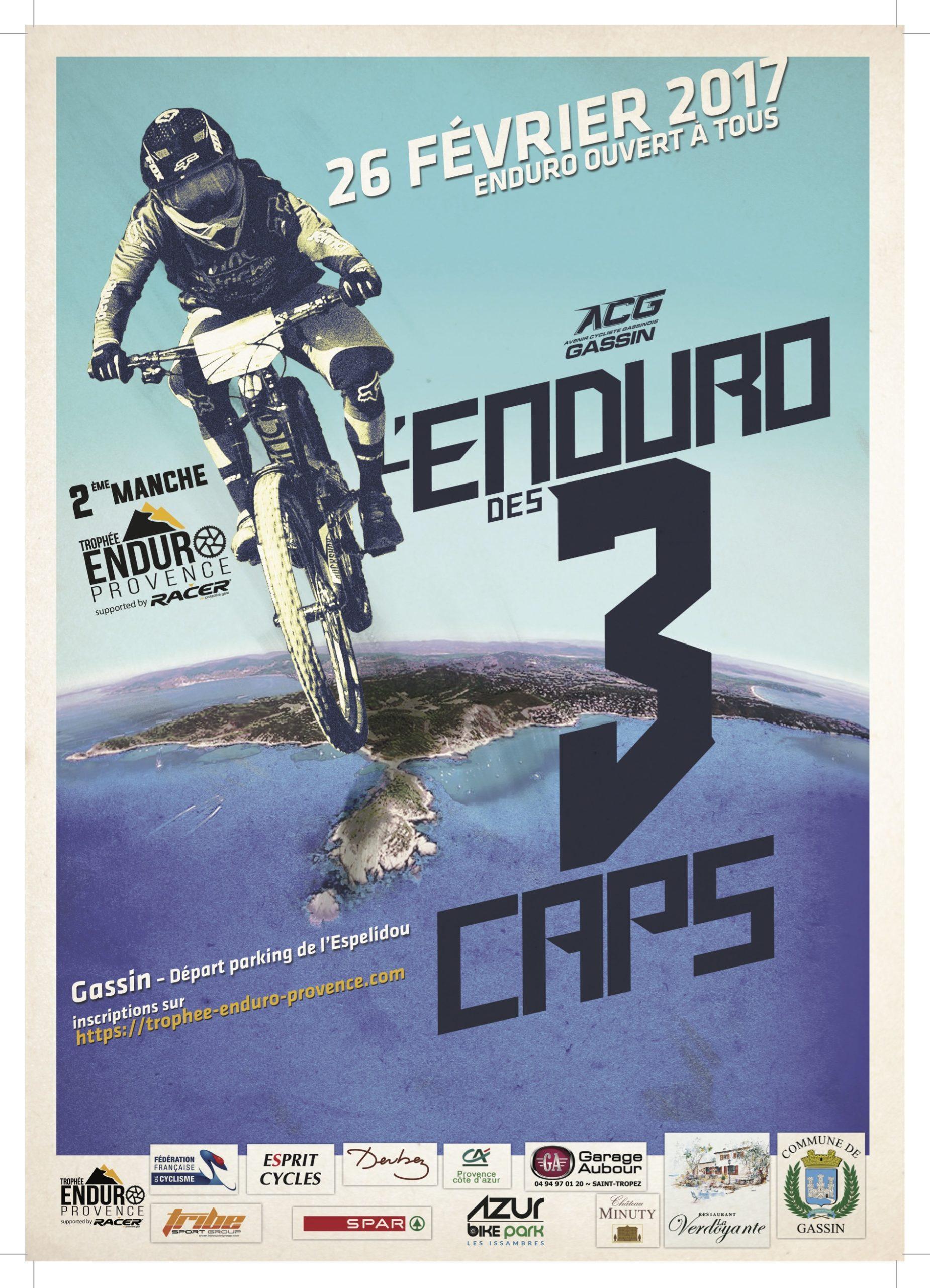 Affiche Enduro des 3 Caps 2017