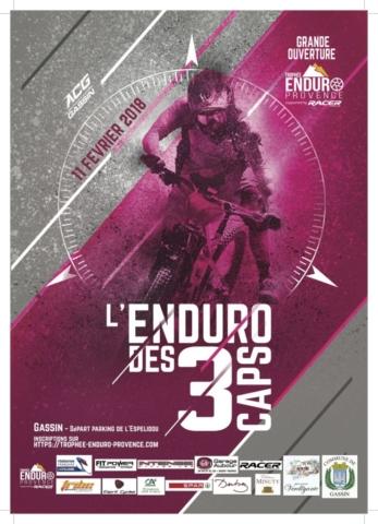 Affiche Enduro des 3 Caps 2018